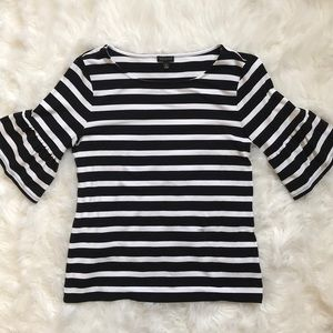🐝 Talbots S striped bell sleeve top